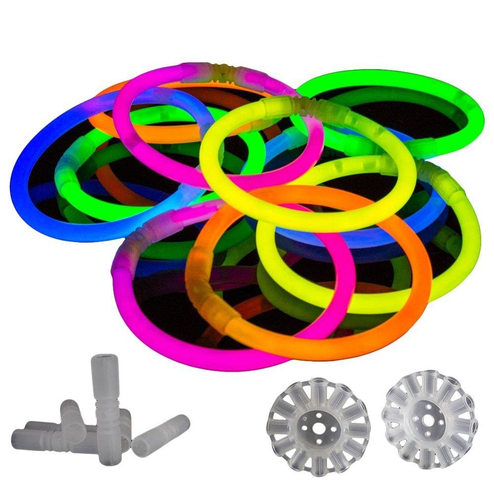 100 Pack Premium Glowhouse Glow Stick Bracelets