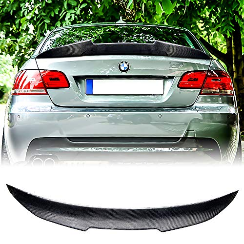 Rolling Gears Carbon Fiber Trunk Spoiler Fits BMW 3er E92 Coupe/ E92 M3, 2006-2013, High Kick Style