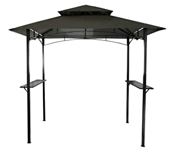Bentley - Toldo para Barbacoa de 2, 4 x 1, 5 m - En Gris (también Disponible en Beige): Amazon.es: Jardín