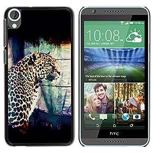 TECHCASE**Cubierta de la caja de protección la piel dura para el ** HTC Desire 820 ** Leopard Spots Dots Big Cat Wild Portrait Art