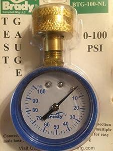 "Brady Pressure Gauge 0-100 Psi 3/4 "" Lead Free 0-100 Psi"