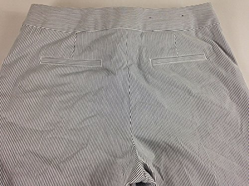 Liz Claiborne Jackie Pants NEW Seersucker Pinstripe White Navy Wide Leg 10 12 16 (10) (Seersucker Wide Leg Pants)