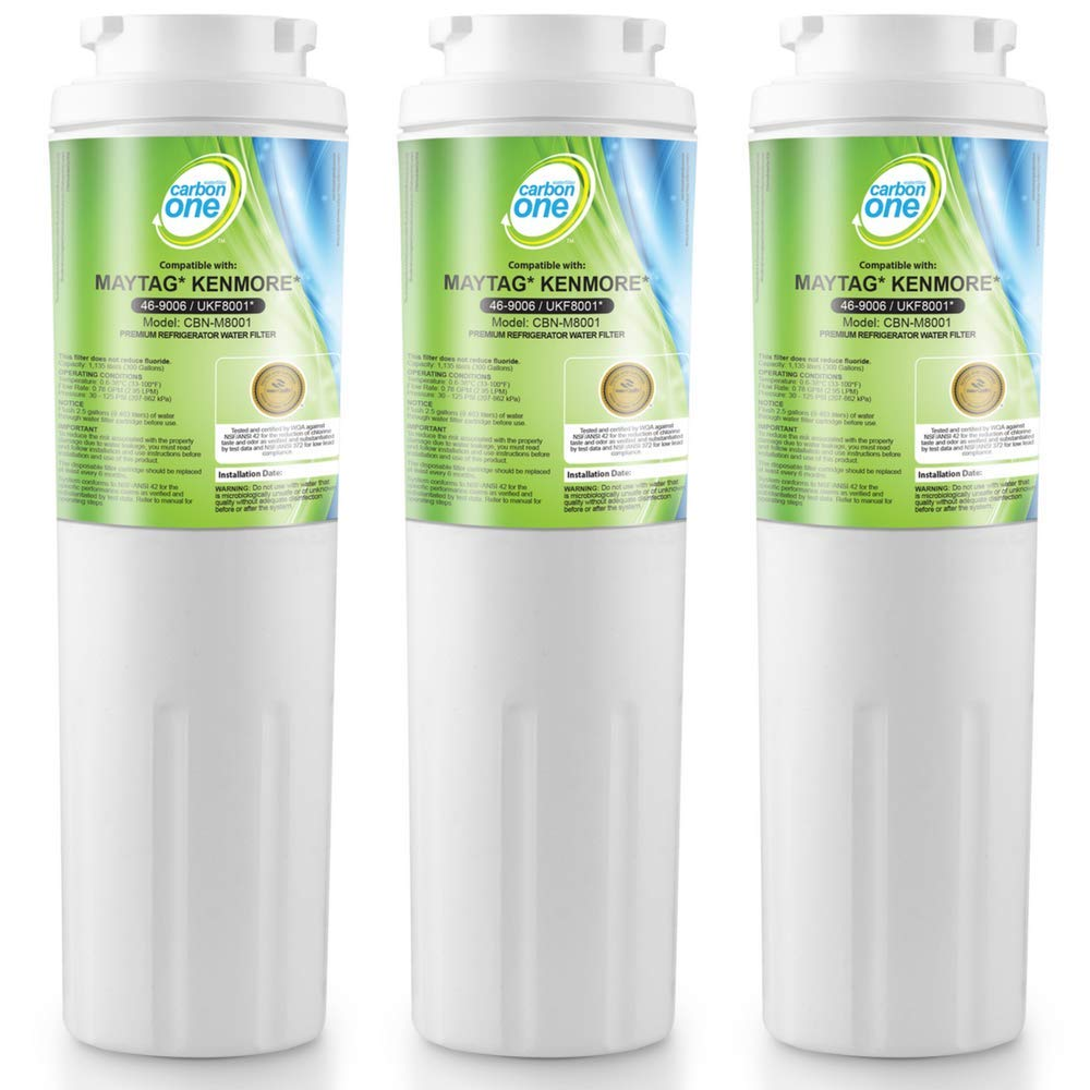 CarbonOne Premium UKF8001 Water Filter for Replacement Refrigerator Water Filter of Maytag UKF8001, PUR, Jenn-Air, UKF8001AXX, UKF8001P, EDR4RXD1, Whirlpool 4396395, Puriclean II, 469006, Filter 4
