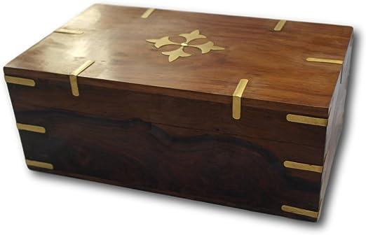 Tamaño grande Stuuning cofre de madera caja de joyero: Amazon.es: Hogar