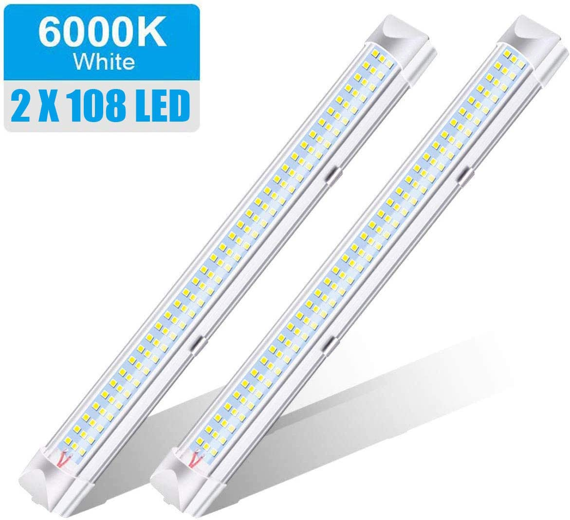 2x 12v DC LED Caravan Interior Light Ultra Thin Warm White 6000k