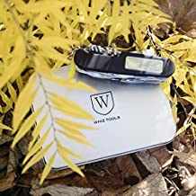 Whiz Tool - Ultimate Multitool Pocket Tool- 24 Functions, Lightweight, Compass, LED Light, Can Opener, Scissors - For Camping, Cycling, Hiking, Hunting, Military, Every Day use in Protective Case.