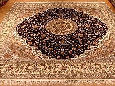 Amazon Com Luxury Large Round Rugs Silk Traditional Area