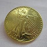 1915-S USA $20 Gold-Plated Saint Gaudens Twenty Dollars or Double Eagle Coins COPY