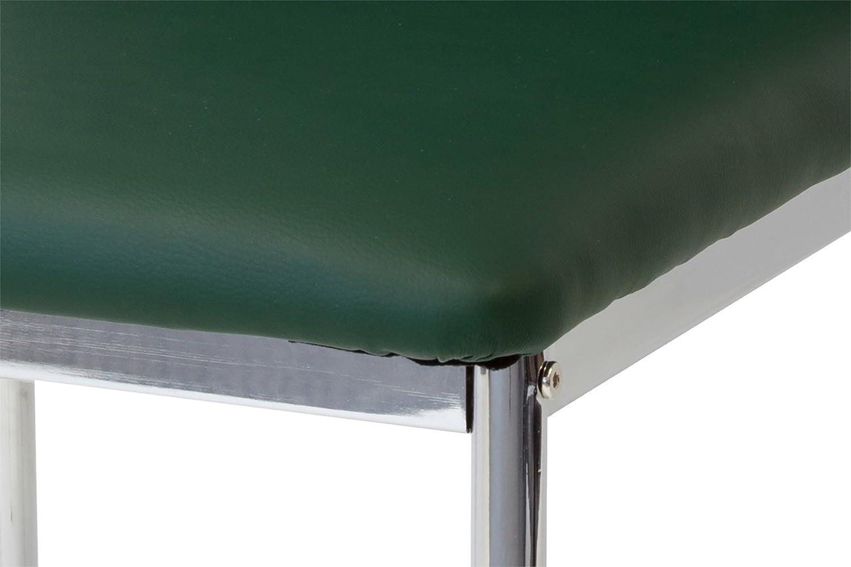 piede cromato Albatros 2941 VERONA Set di 4 sedie da pranzo SGS tested verde