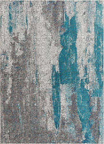 Well Woven Carlo Blue Abstract Geometric Area Rug 4x6 (3'11