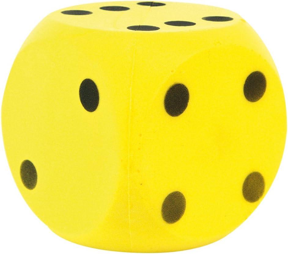 Speelgoed 190/606 - Dados Suave, color Amarillo, 15 x 15 cm