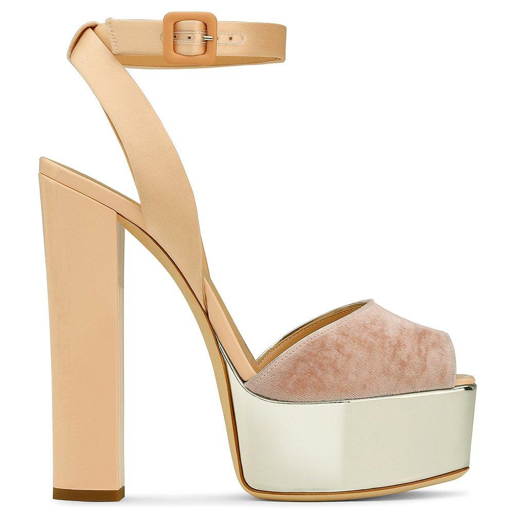 XUE Zapatos de Mujer PU Summer Basic Pump Zapatos de Boda Tacón de Aguja Peep Toe Hebilla Negro Oscuro Marrón Fiesta y Noche/Vestido Bomba Básica Formal Trabajo de Negocios Boda 42|E