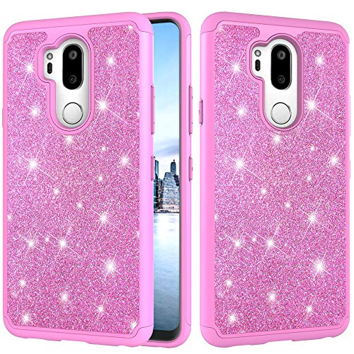 Control Box Cover - LG G7 Case, LG G7 ThinQ Case, Lisuixi Luxury Bling Glitter Sparkle Case for Girls Full-Body Protection [Silicone+Hard PC Back] 2 in 1 Hybrid Dual Layer Shockproof Cover for LG G7 ThinQ/LG G7 Pink