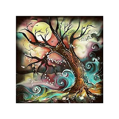 SIN+MON DIY 5D Diamond Painting Kit for Adult Kids Colorful Embroidery Paintings Rhinestone Pasted DIY With Diamond Arts Craft for Home,Wall Decor (Black): Office Products