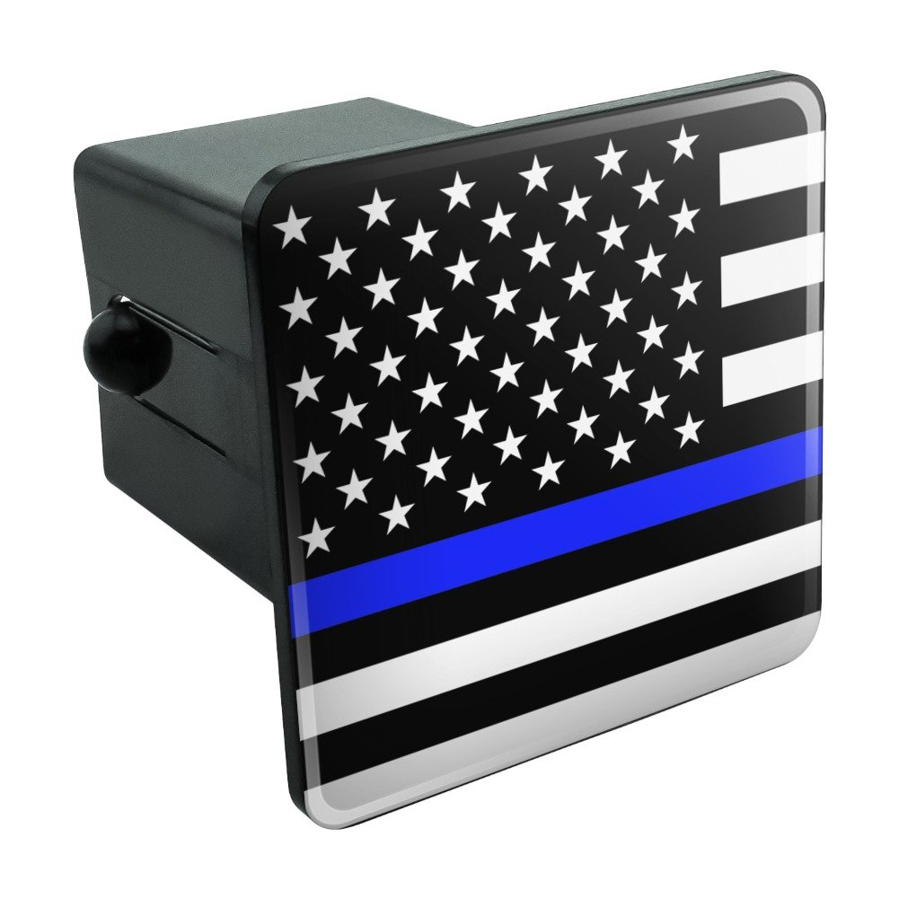 1.25 Graphics and More Thin Blue Line American Flag Tow Trailer Hitch Cover Plug Insert 1 1//4 inch