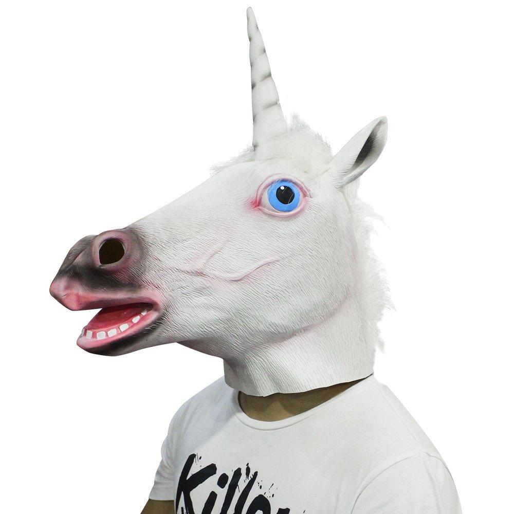 Cusfull Látex de Caucho Novedad Halloween Traje Caballo Cabeza Máscara Navidad Fiesta Decoraciones Adulto Accesorio Del Traje (Patas de Unicornio): ...