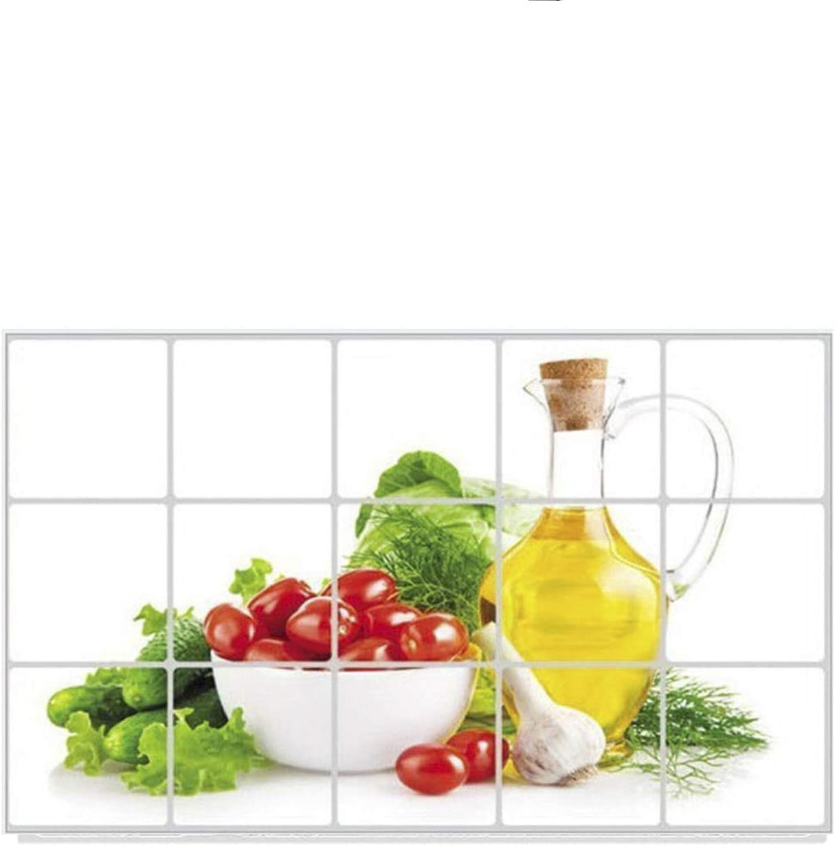 RenxinND Fruit Vegetable Wall Stickers Art Decor Kitchen Wall Self-Adhesive Stickers Colorful for Home Hotel