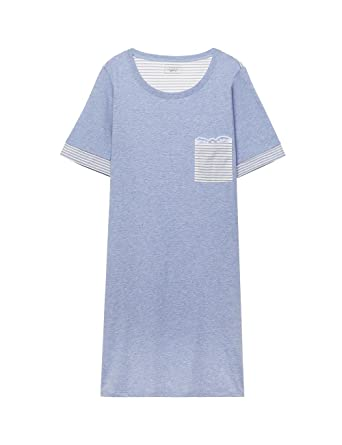 c4290a809e2e Intimissimi Womens Cotton Stripes Supima® Cotton Nightdress: Amazon.co.uk:  Clothing