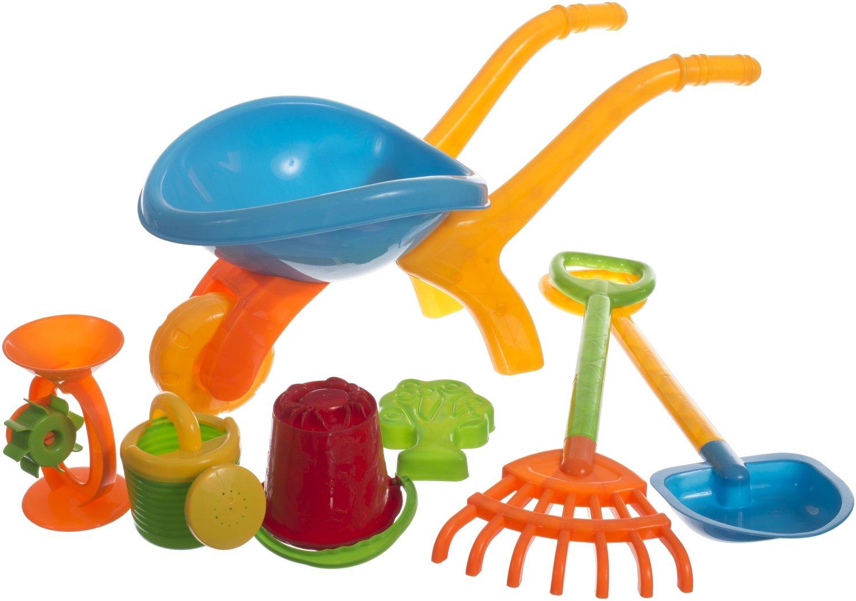 Sandspielzeug Set mit Schubkarre und Zubeh/ör Bieco 06087811 7 teilig