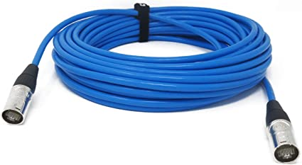 Network Audio Patch Cord 30 Feet RJ45 Cat6 Shielded Ethercon Compatible Cable
