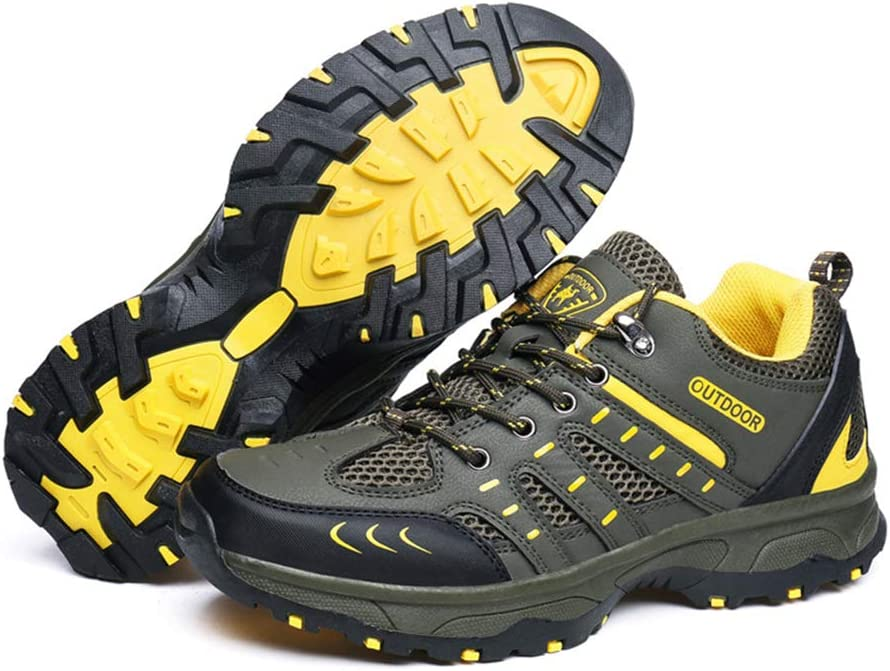 Yaloee Men Hiking Boots Fashion Breathable Climbing Trekking Sneakers