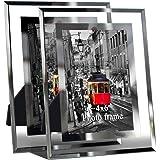 Giftgarden 10x15 Cornici Foto in Vetro Casa Decor Cornice Trasparente, Set da 2