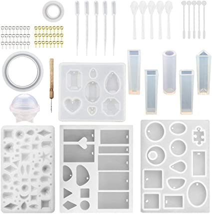 DIY Bracelet Pendant Epoxy Mold Set Resin Casting Molds and Tools Set US Stock