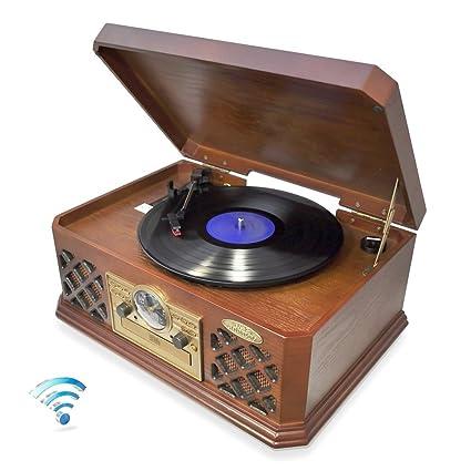 Amazon.com: ptcd4bt Pyle Bluetooth estilo clásico Record ...