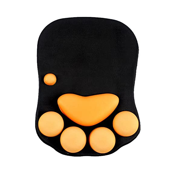 Cmhoo Mouse Pad with Wrist Support Cat Paw Soft Silicone Wrist Rests Wrist Cushion Computer Mouse Pad Mat Desk Decor (10.7Ã?7.8 cat paw)
