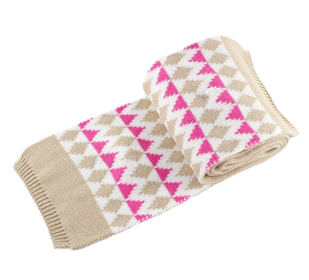 Infant Baby Kid Girls' Bowtie Diamond Knit Beanie Hat Scarf Mittens Set 24M