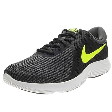 Nike Revolution 4 EU, Chaussures de Running Homme, Noir (Black/Volt/Anthracite 007), 40 EU