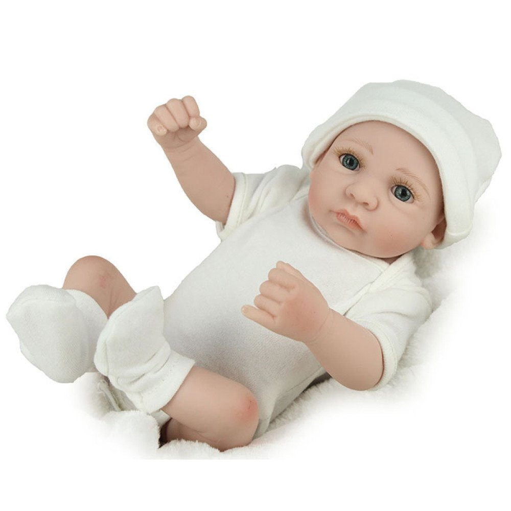 ZBXM Simulación Renacimiento Muñeca De Silicona Lindo Cuerpo del Bebé Suave Puede Acompañar A Dormir Juguetes Bebé Regalo Creativo 28Cm