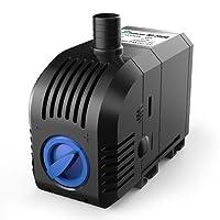 SONGJOY 660 GPH Submersible Water Pump 45W For Indoor Outdoor Fountain Pond  Aquarium Fish Tank Hydroponics