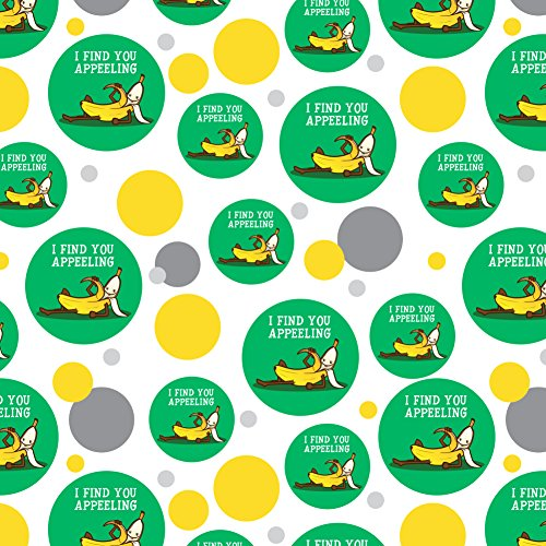 Banana I Find You Appeeling Funny Pun Premium Gift Wrap Wrapping Paper Roll