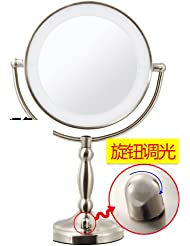 9InchLEDcosmetic mirror/ lighted mirror/Large double sided Desktop mirror/ wedding beauty mirror mirror-C