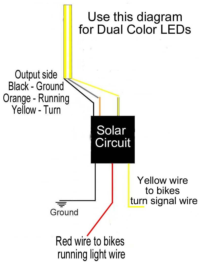 Amazon.com: Solar Circuits LED Turn Signal Wiring Circuits - Converts 2-Wire  LED to 3 for Running Light AND Turn Signals (pair): Automotive