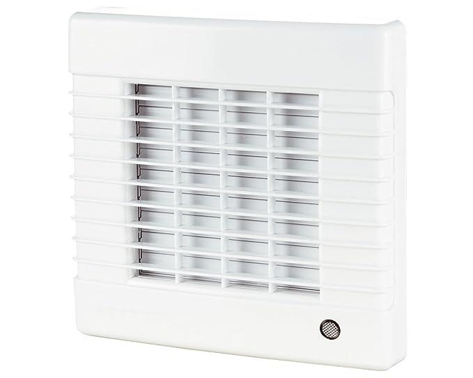 Ventilador extractor con cierre eléctrico interno y motor de rodamiento, fabricado en Europa, Blanco, 230.00V: Amazon.es: Iluminación
