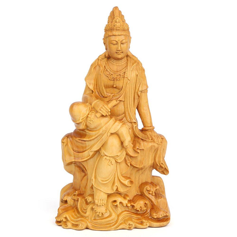 木彫仏像 普賢菩薩 仏像 置物 高品質 手作り 祈る 縁起物 開運 B07D9NCG75 10cm 10cm