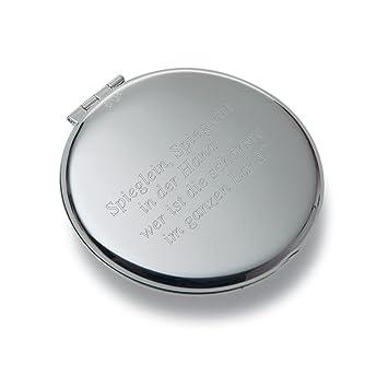 Beliebt Diamandi Taschen-Spiegel mit persönlicher Text-Gravur auf beiden IQ47