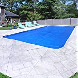 Pool Mate 1836RS-10SBD BOXPM Premium Solar Blanket for In-Ground Pools, 18' x 36' Rectangle Pool, Blue/Silver