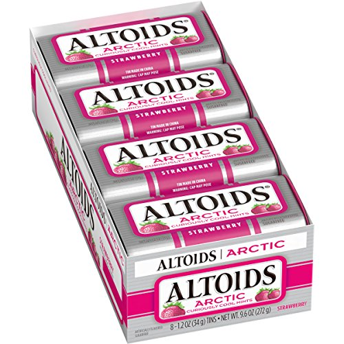 Altoids Arctic Strawberry Mints, 1.2 Ounce (8 Packs)