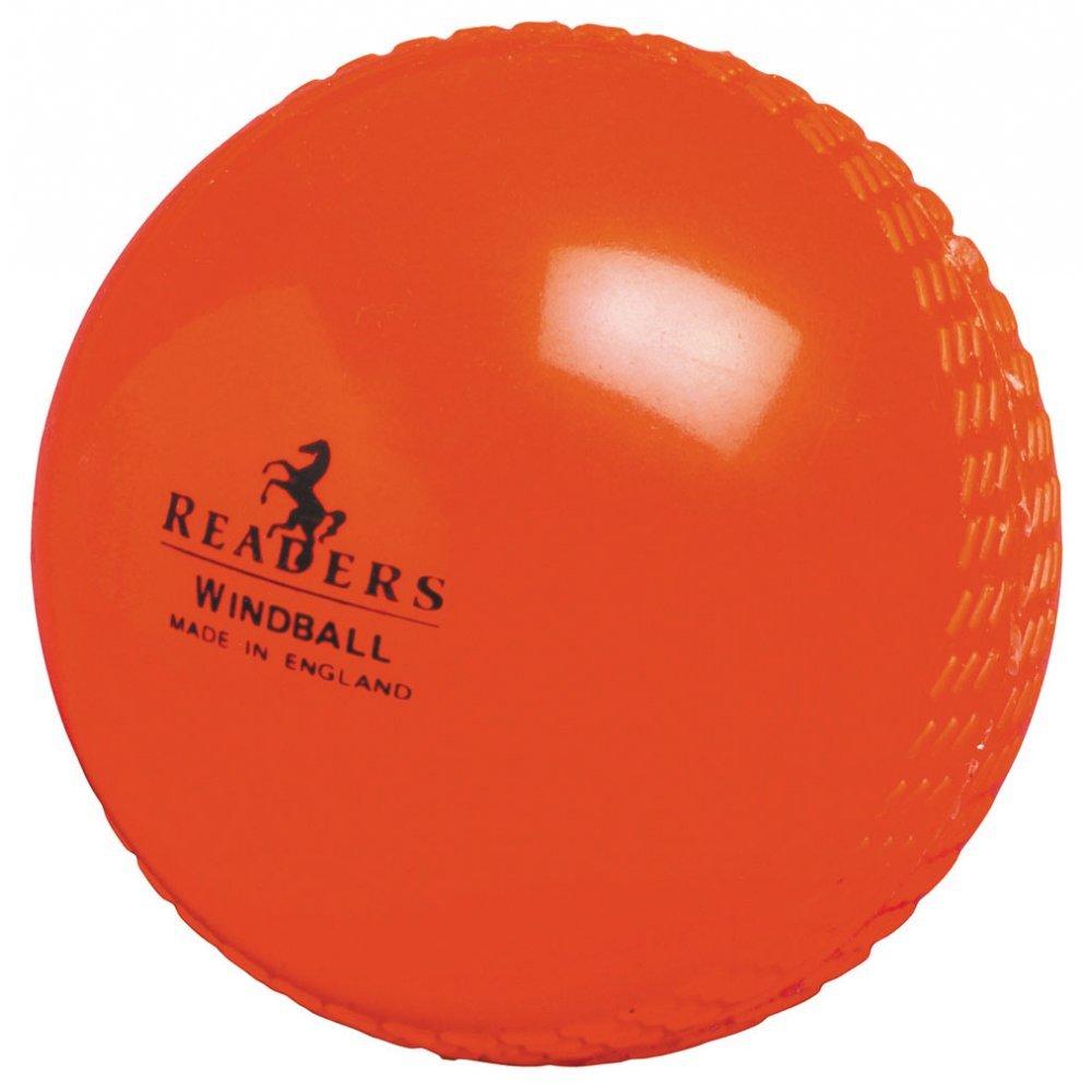 Readers Cricketball Windball, Orange (weicher Kunststoff) Trainingsball