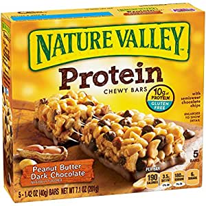 Nature Valley Protein Chewy Bars - Peanut Butter Dark Chocolate - 7.1 Ounce (Pack of 1) - 5
