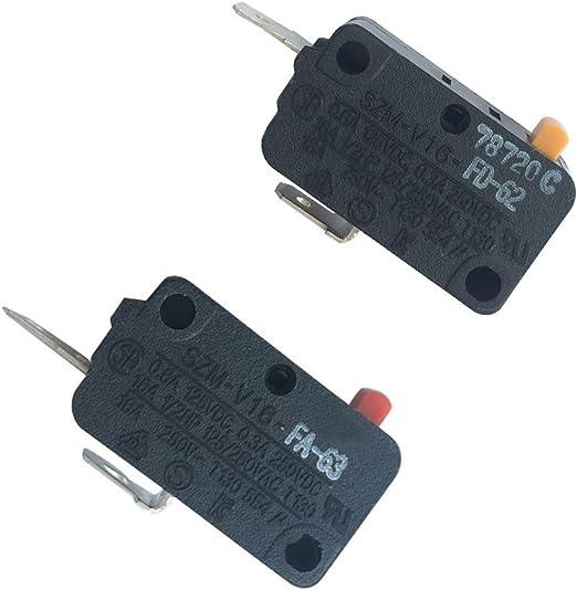 LONYE SZM-V16-FA-63 SZM-V16-FD-62 Microwave Oven Door Micro Switch for LG,GE,Starion Microwave