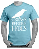 Starlite-Mens Funny T Shirts-Crows Before Hoes-Game of Thrones Style-funny tshirts-funny gifts