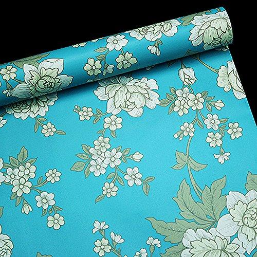Decorative Shelf Liner (SimpleLife4U Vintage Peony Decorative Contact Paper Self Adhesive Shelf Drawer Liner Christmas Wall)