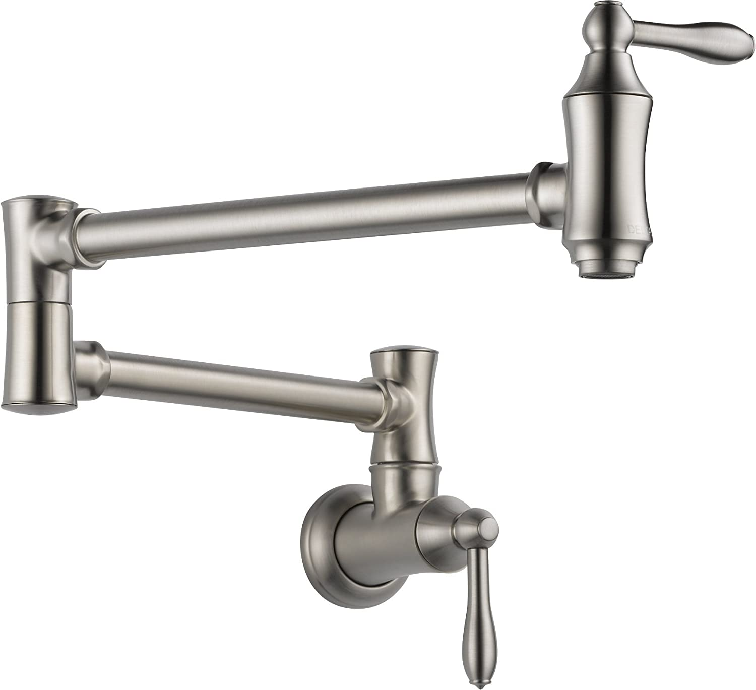 Delta Faucet Traditional Wall-Mount Pot Filler Faucet, Stainless 1177LF-SS