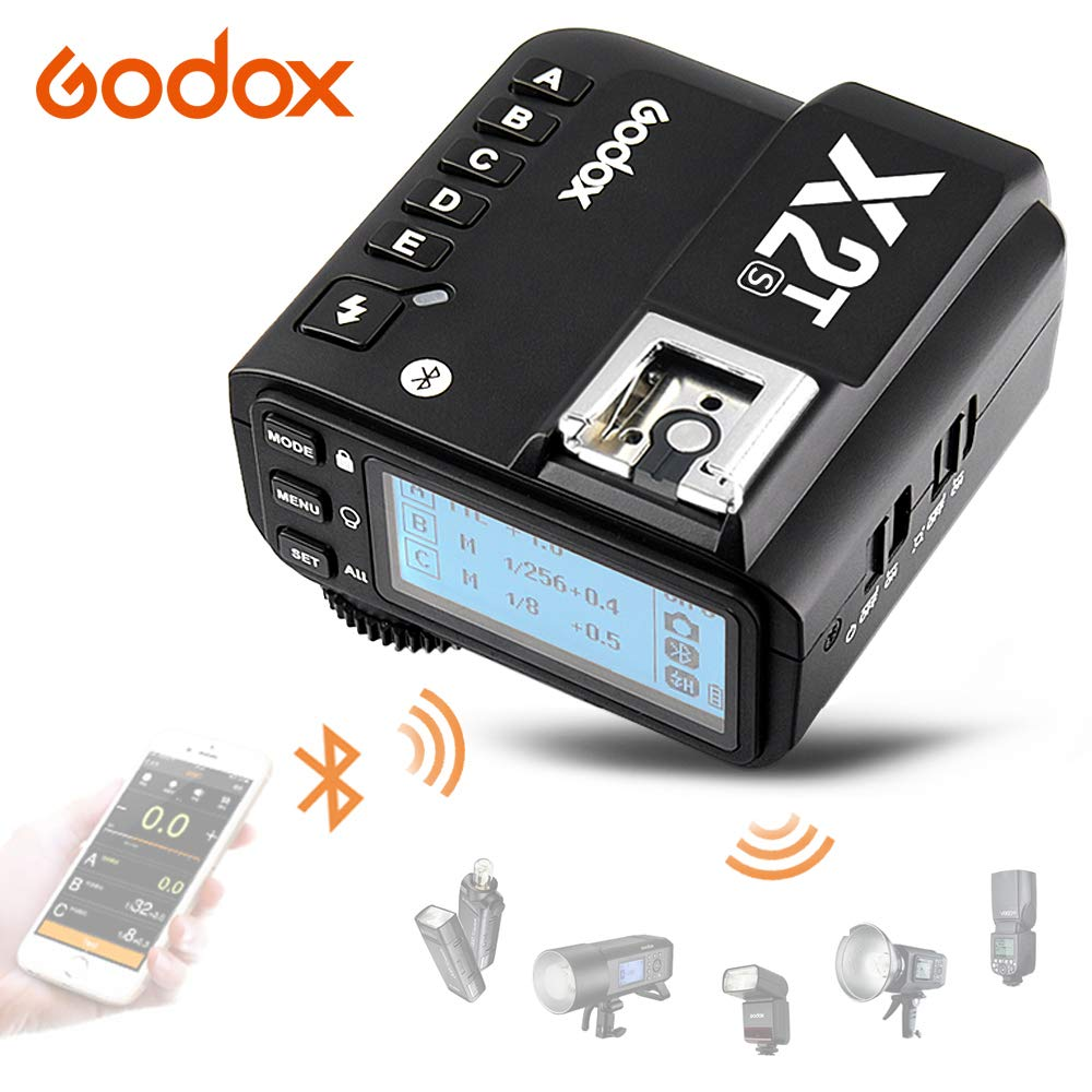 Godox X2T-S TTL Wireless Flash Trigger with Bluetooth Connection for Sony, 2.4G HSS 1/8000s,TCM Function,5 Separate Group Buttons &Quick Lock Hot-Shoe & LCD Display