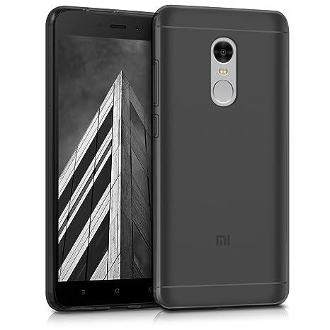 kwmobile Funda para Xiaomi Redmi Note 4 / Note 4X - Carcasa Protectora de [TPU] para móvil - Cover [Trasero] en [Negro]