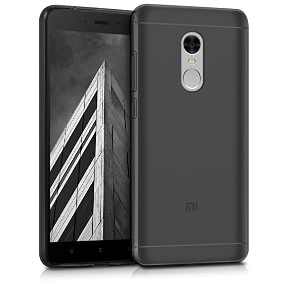 more photos 3f5ad 39345 kwmobile Crystal Case for Xiaomi Redmi Note 4 / Note 4X - Soft Flexible TPU  Silicone Protective Cover - Black